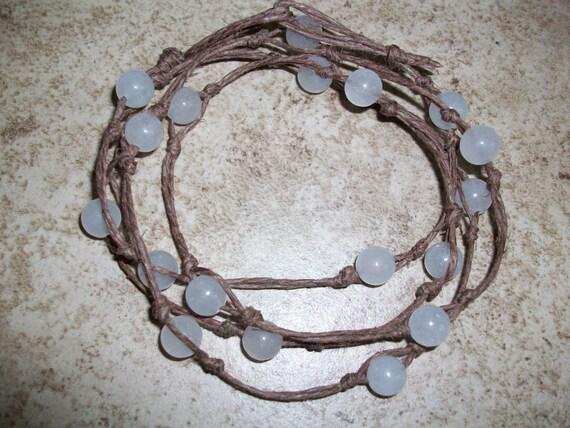 White Quartz Mala Bracelet