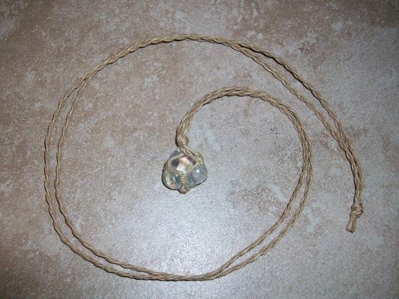 Angel Aura Quartz Braided Necklace