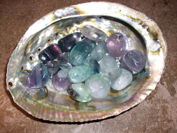 Rainbow Fluorite (Chipped) Tumbled Stones