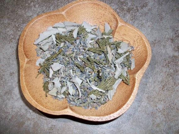 White Sage, Lavender and Cedar Loose Incense