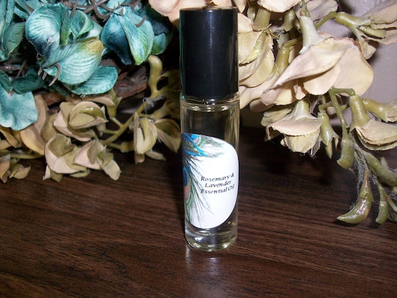 Rosemary and Lavender Essential Oil Blend 1/3 oz Roller Bottle
