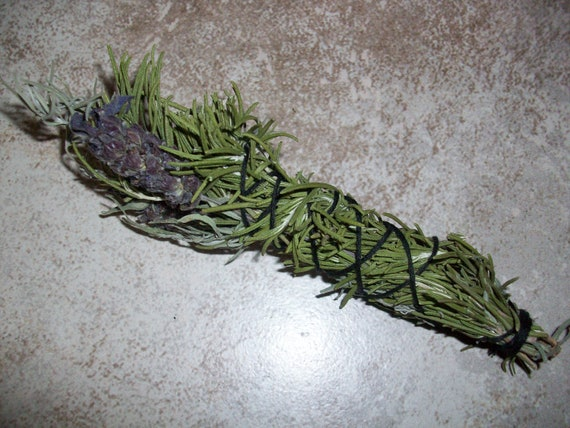 Lavender and Rosemary Mini Smudge Stick (2021 Harvest)