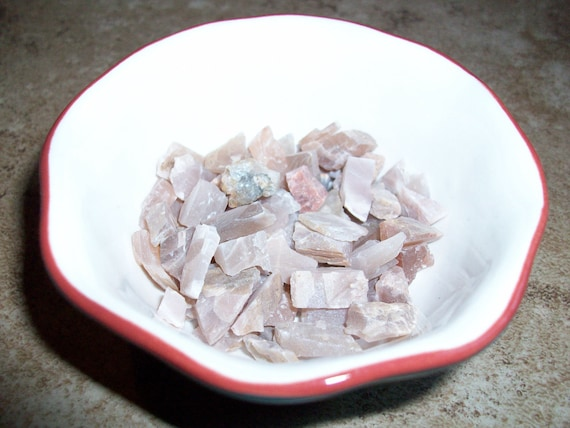Peach Moonstone Raw Tiny Chipstones (4 Stones)