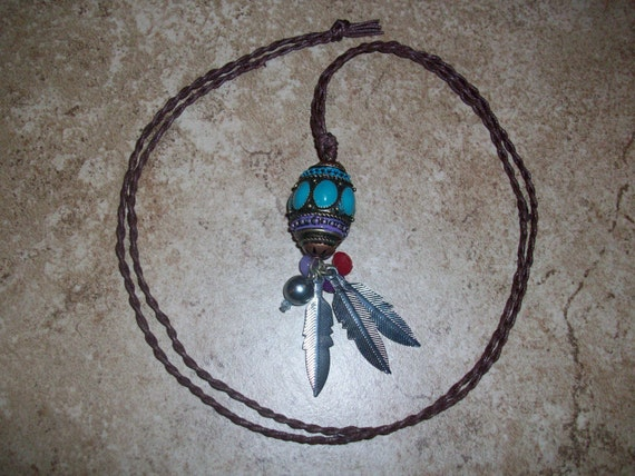 Tribal Feather Pendant