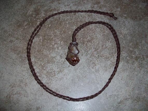 Citrine Point Braided Necklace