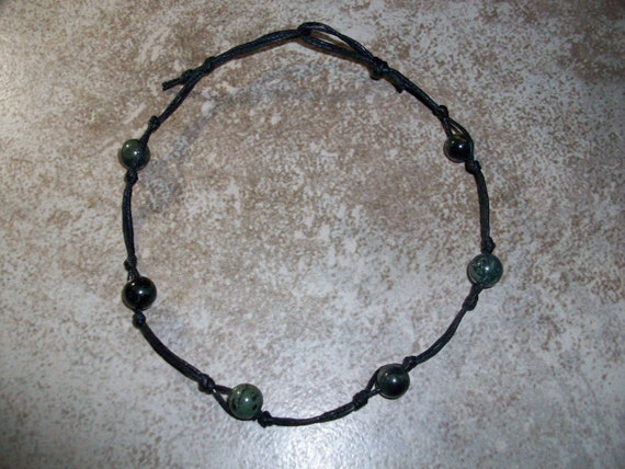 Kambaba Jasper Stackable Knotted Anklet