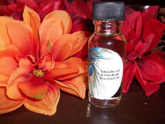 Sandalwood and Patchouli Essential Oil Blend 1/2 oz Bottle
