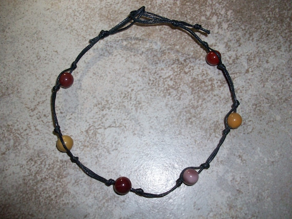 Mookaite Jasper Stackable Knotted Anklet