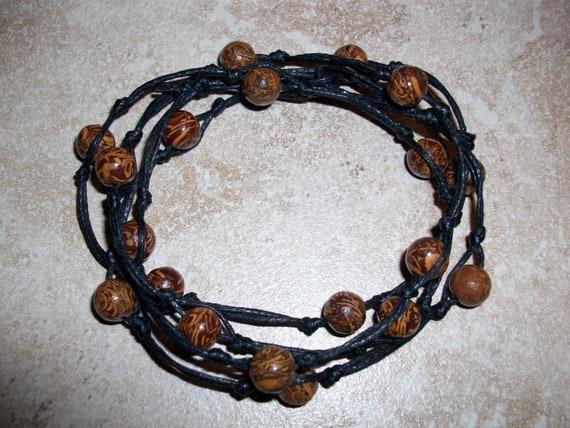 Calligraphy Stone 8mm Mala Bracelet