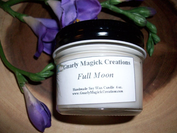 Handmade Full Moon 4 oz Jar Candle