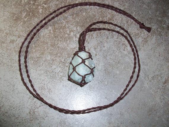 Aquamarine Raw Braided Necklace