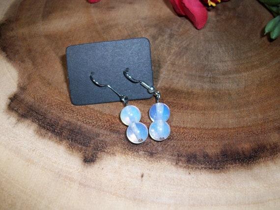 Opalite Sterling Silver 8mm Gemstone Earrings