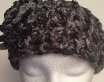WildFire Crochet Beret, Flower Crochet Hat
