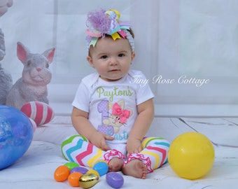 My first Easter, Bunny, Embroidered Body Suits, First Easter Outfit