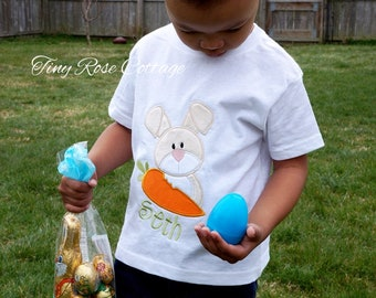 Easter Bunny With Carrot - Embroidered Shirt