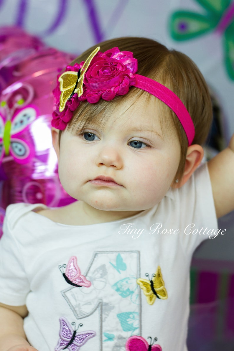 Butterfly Headband Embroidered
