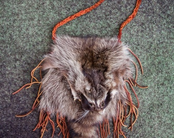 Fringe Raccoon Purse