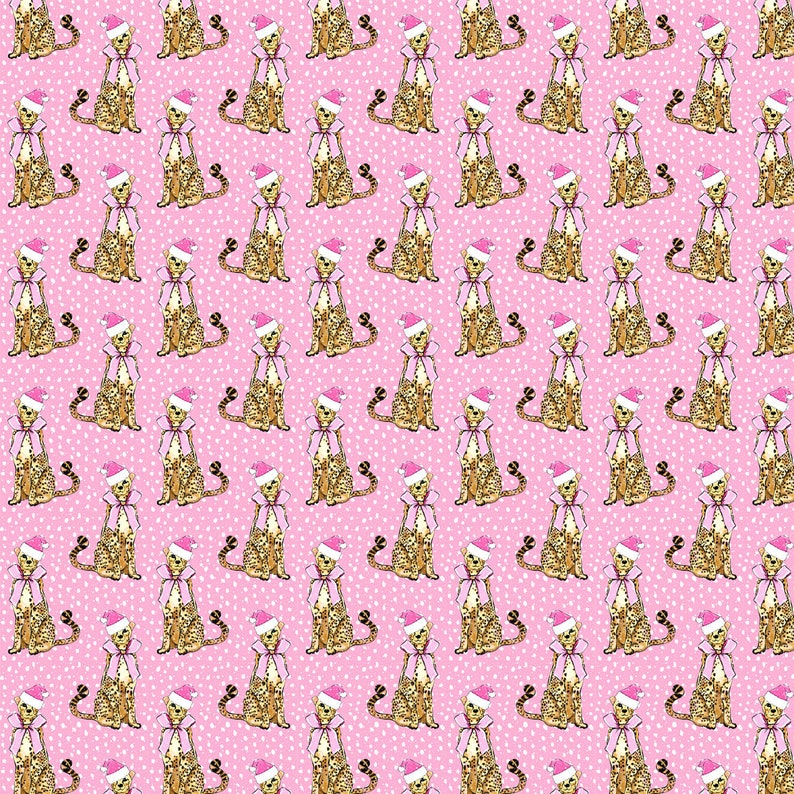 Cotton Spandex Jersey Knit Interlock Knit cotton Leopard Christmas Fabric Kona Cotton Leopard Fabric Fabric By The Yard WNT13