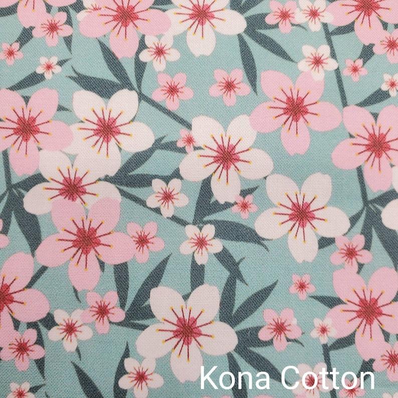 Custom Printed Fabric by The Yard Pink Flower Fabric Cherry Blossom Pattern Fabric Sakura Pattern Fabric FLW68