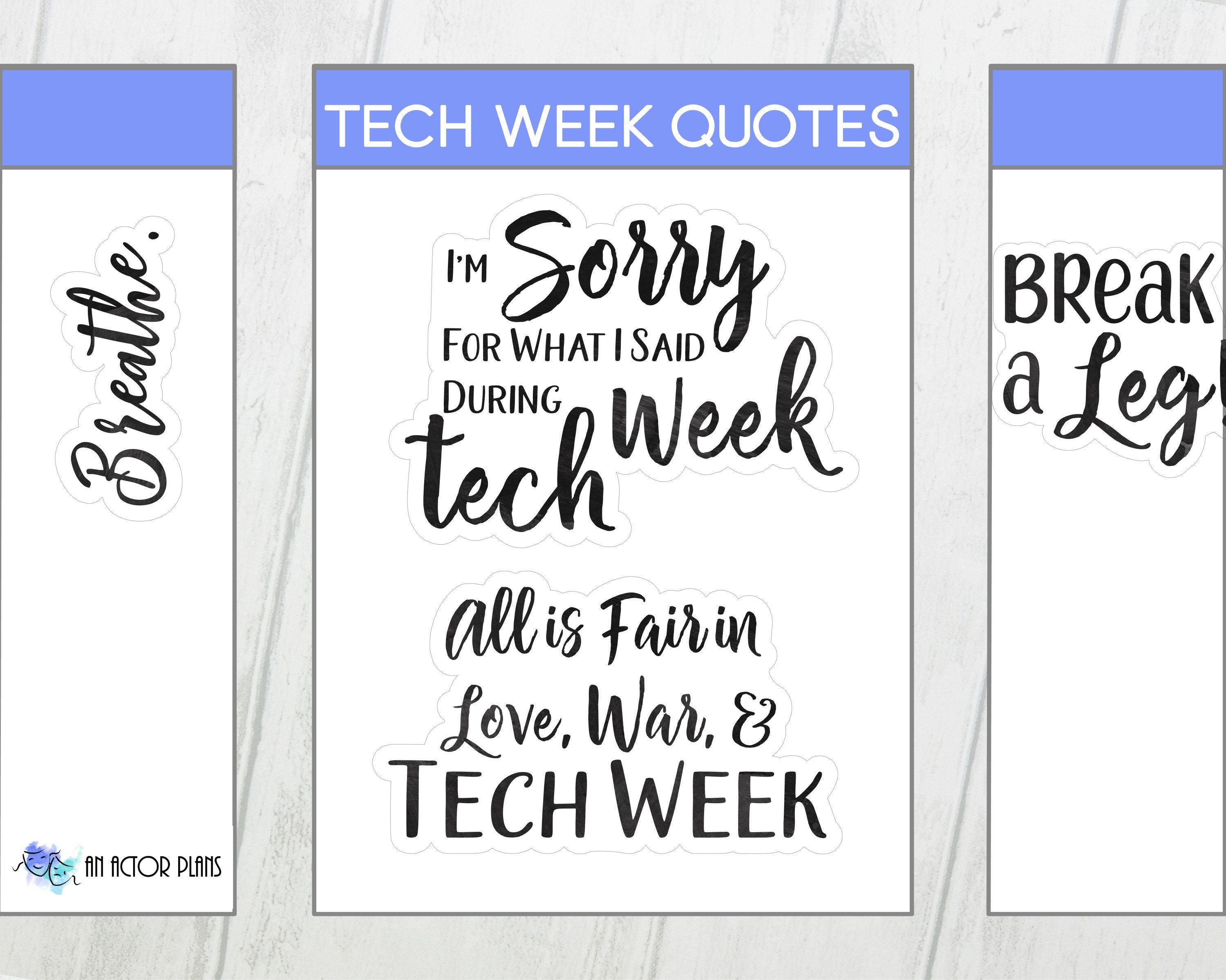 Tech Week Quotes Theater Sticker Etsy