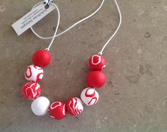 Polymerclay clay necklace