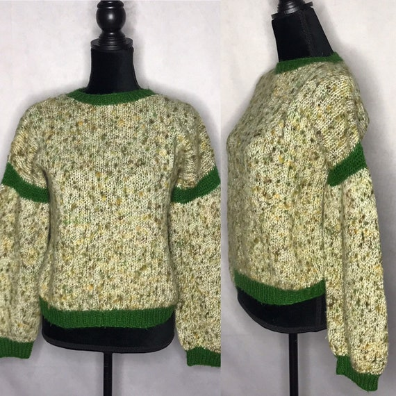 1970s sweater/ vintage 1970s knit sweater