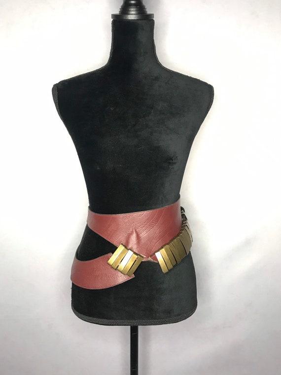 1980s belt/ vintage wide belt - image 2