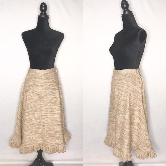 1970s skirt/ vintage 1970s knit skirt