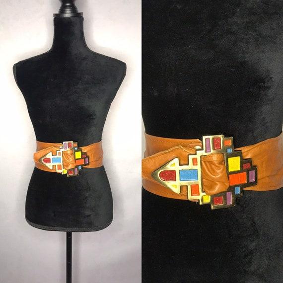 1980s belt/ vintage 1980s belt