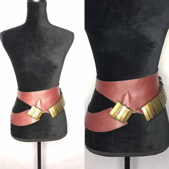 1980s belt/ vintage wide belt