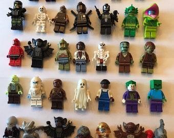 Lego Minifigure Bulk Lot of 10 Random themed Monster/Halloween Figures