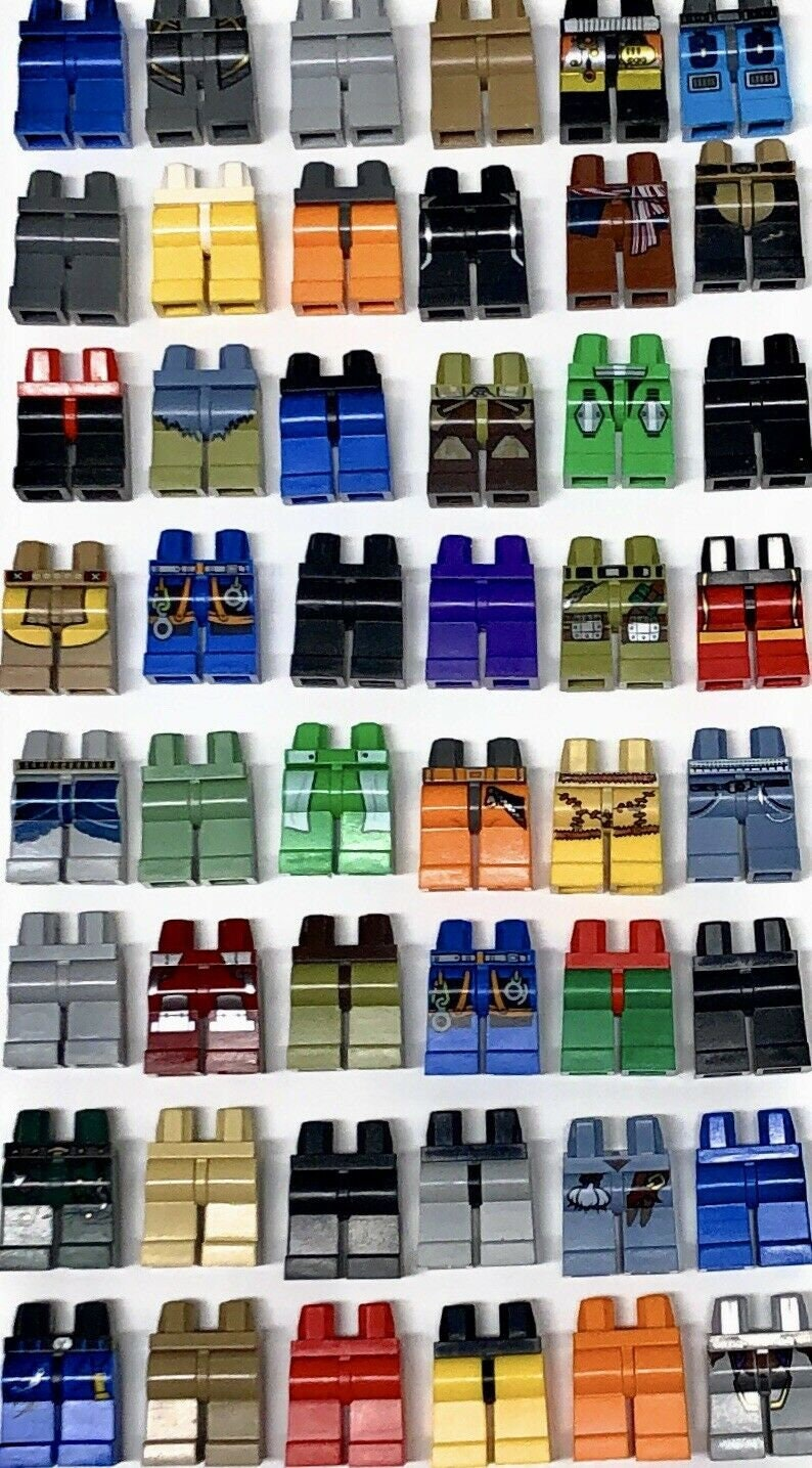 LEGO GRAB BAG 20 RANDOM MINIFIGURE PANTS PIECES BODY PARTS LEGS HUGE VARIETY