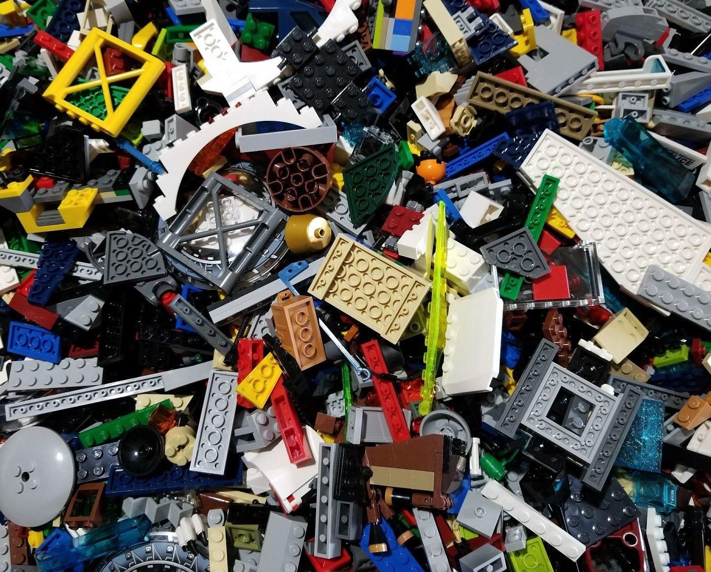 100 Black LEGO PIECES HUGE BULK LOT OF BRICKS PARTS RANDOM RARE BLOCKS