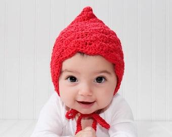 Baby Girl Bonnet, Crochet Baby Bonnet, Baby Girl Hat Crochet, Baby Bonnet Girl, Pixie Bonnet