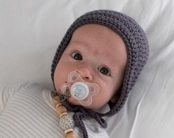 Crochet Baby Bonnet, Newborn Bonnet, Baby Bonnet Boy, Baby Shower Gift, Baby Boy Gift
