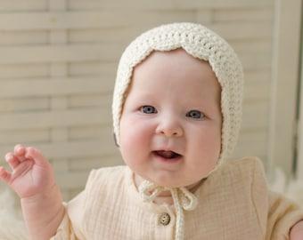 Crochet Baby Bonnet, Crochet Baby Hat, Baby Girl Bonnet, Baby Shower Gifts, Baby Girl Gift