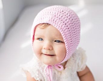 Crochet Baby Bonnet, Baby Girl Bonnet, Crochet Baby Hat, Newborn Gift, Baby Girl Gift