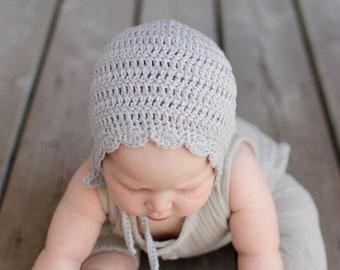 Baby Girl Bonnet, Crochet Baby Bonnet, Crochet Hat, New Baby Gift, Baby Girl Gift