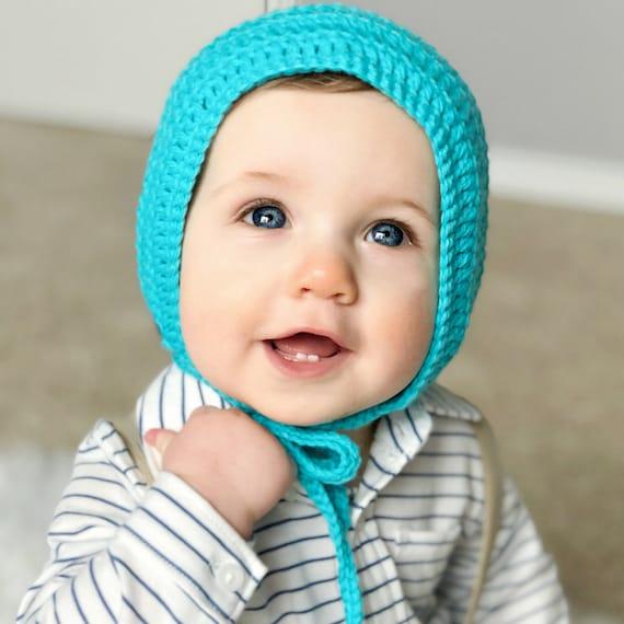 Boy Baby Bonnet Baby Bonnet Newborn Bonnet Crochet  3d010eb8b6d9