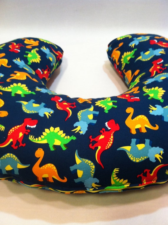 Dinosaurs Boppy Cover Baby Boy Nursing Pillow Cover Etsy