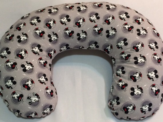 Boppy Cover Mickey And Minnie Mouse Nursing Pillow Cover Etsy Awesome Minnie Mouse Boppy Pillow Cover