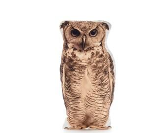 Owls, Owl Cushion, Owl Pillow, Owl Decor, Woodland Decor, Owl Gifts, Owl, Boys Bedroom, Owl Nursery, Barn Owl, Rustic Pillow, Farmhouse gift