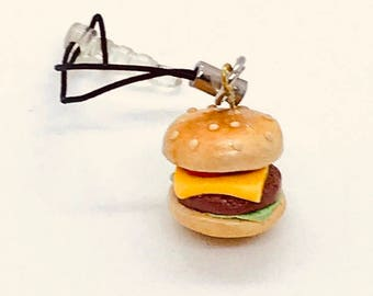Cheeseburger Phone Charm