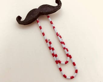 Hipster Moustache and Sunglasses Paperclip Bookmarks