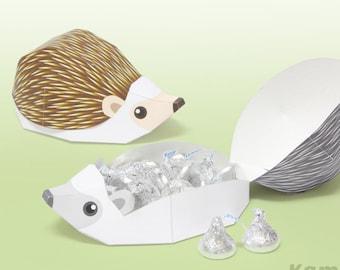 Hedgehog - Favor boxes, Gift boxes / Printable Paper Craft PDF