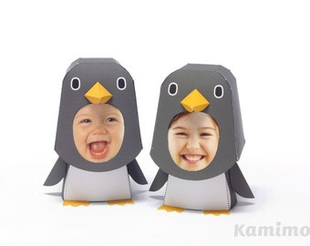 Printable Paper Craft PDF / KIGURUMMY - Penguin Family (standard color)