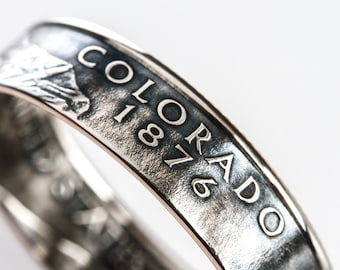 Coin Ring / Colorado / quarter jewelry / birth year jewelry / statement jewelry / birth year ring / state quarter coin ring / Denver