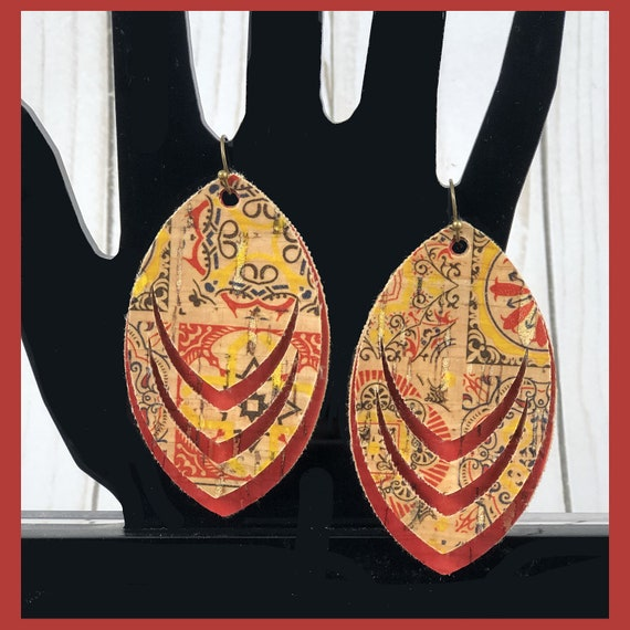 Jewelry Machine or Hand Cut Poly-Cotton Back Silhouette Rainbow Color Purses Bows Pastel Ombre/' Dalmatian Genuine Cork Sheets Cricut