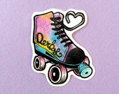 STICKER . Roller . Girly . Fun . Love