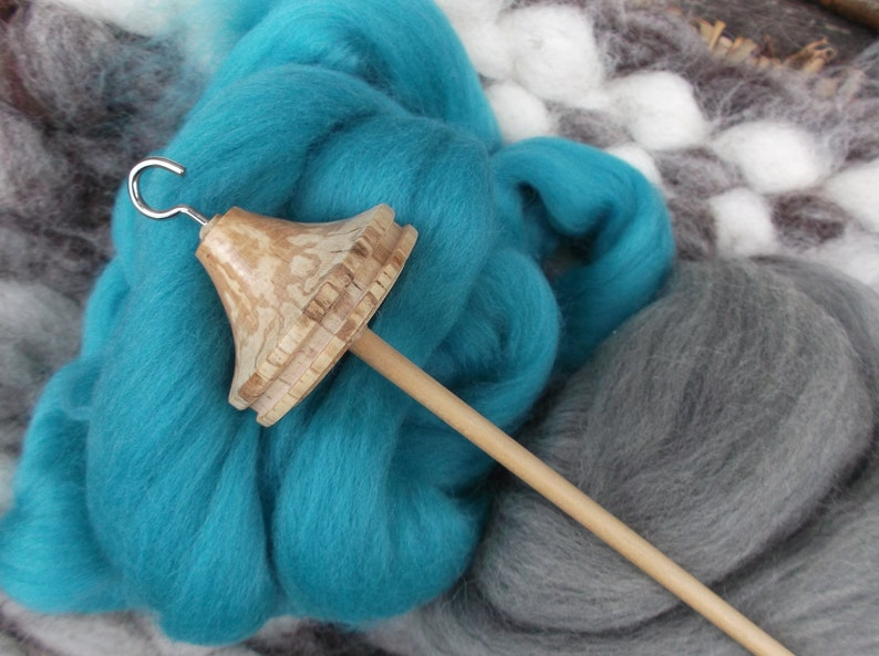 New Style 2019 Spalted Beech Lace Weight 21 gram Drop spindle spindle kit